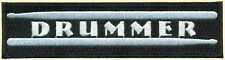 Drummer Embroidered Patch, Drumsticks, Bands, Rock and Roll, Beat,