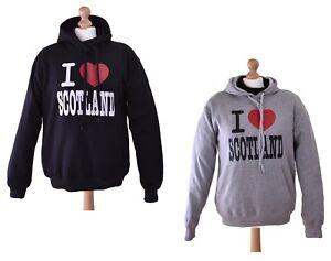 2X Hoodie's, I love Scotland , Men's Jumper, Black + Grey, LI-SCO-0018+0028