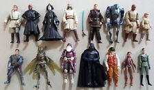 Star Wars Prequel & Clone Wars Action Figure Lot x15 Jedi Sith Comic Pack