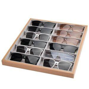 Sunglasses Tray 12 Grid Velvet Glasses Display Case Eyeglasses Storage Box