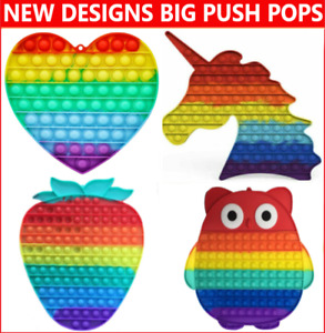 Jumbo Push Pops Fidget Kids Toy It Bubble Special Needs Silent Sensory Autism