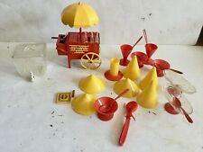 1950's Ideal Toy Co. Hot Dogs-Ice Cream-Soda Vending Cart Yellow Umbrella * More