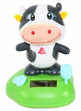 Happy Moo Cow Solar Toy Dashboard Desk Window Home Decor Holiday Gift US Seller