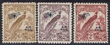 NEW GUINEA 1932 UNDATED BIRD AIRMAIL 6D 9D AND 2/-