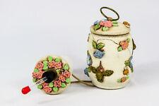 Hummingbird Feeder, Handmade, Hand Painted Stone Pottery - New