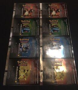 pokemon generations uncut pack factory full sheet charizard