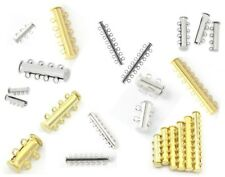 MULTI STRAND MAGNETIC SLIDE CLASPS - 2 3 4 5 6 7 8 9 10 STRAND CLASP SILVER GOLD