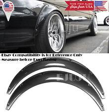 "2 Pcs 2.75"" Wide Black Carbon Effect Flexible Fender Flares Extension For Chevy"