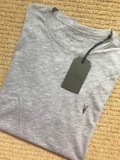 "ALL SAINTS GREY MARL ""VIDO TONIC"" S/S CREW LOGO T-SHIRT - XS S M L - NEW & TAGS"