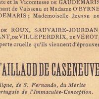 Jules Henri François D'Aillaud De Cazeneuve Saint-Jean-de-Garguier Gémenos 1913