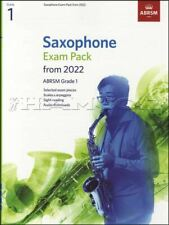 More details for saxophone exam pack from 2022 abrsm grade 1 sheet music book/audio alto tenor