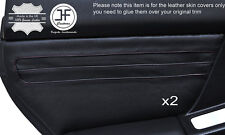 BLACK LEATHER 2X REAR DOOR CARD TRIM COVER FITS SUBARU IMPREZA WRX STI 01-04