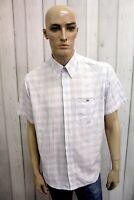 LACOSTE Camicia Uomo Taglia XL Cotone Shirt Chemise Francia Casual Manica Corta
