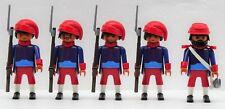 Zouave 4 soldati + UFFICIALE C PLAYMOBIL accumulare VS SUDISTI ACW CUSTOM