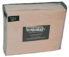 RALPH LAUREN DUNHAM Pink Champagne FULL SHEET SET NEW 4P COTTON SATEEN 300TC