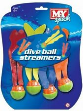 Pack 4 Pool Diving Balls Colour Swim Swimming Underwater Dive Toys Game TY8240