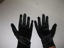 BLACK nylon/spandex gloves Costume Accessory. worn in Branson Follies show.