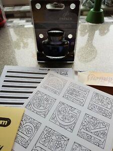 Platingnum Calligraphy Illumination Set plus new Parker ink and gold dust