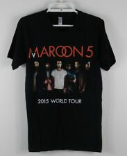 Maroon 5 Unisex World Tour 2015 Size Small Black Concert T Shirt Short Sleeve