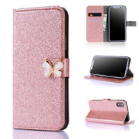 Glitter Leather Flip Wallet Case Women's Cover for iPhone XR XS Max 6S 7 8 Plus