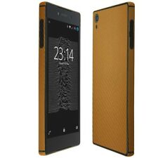 Skinomi Gold Carbon Fiber Skin & Screen Protector for Sony Xperia Z5 Premium