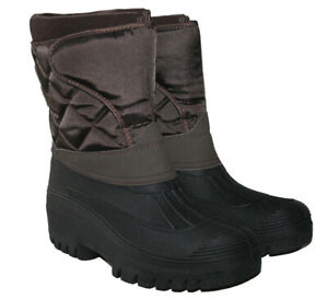 LADIES BROWN WINTER WARM MUCKER BOOT WITH STURDY TREAD SOLE IN SIZES UK 3-8