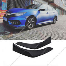 2Pcs Black Universal Fit Front Bumper Lip Splitter Winglet Type 27X4.7 Inch PP