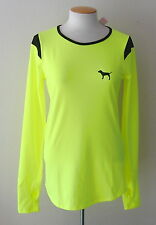NWT Victoria's Secret PINK Collection Ultimate Long Sleeve Raglan Top Neon Lemon