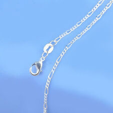 5PCS 18inch Wholesale Jewelry Lot 925 Silver Figaro Chain Necklace For Pendant