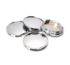 4x 67mm Universal Chrome Silver Car Wheel Center Hub Caps Covers Set No Logo New