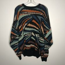 Pronto Uomo Mens 52 Large Vintage Sweater 80s Style Cosby Streetwear Italy