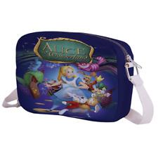 Alice In Wonderland Canvas Rectangle Purse Crossbody Handbag p38 w2003
