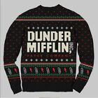 The Office Dunder Mifflin Ugly Christmas Sweater Medium Black Red