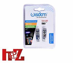 Wisdom T10 RGB LED-Lampen mit 2W Fernbedienung