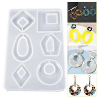 Silicone Earring Necklace Pendant Mold Resin Casting Molds Resin Jewelry Making