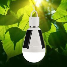 Solar Power 7w E27 LED Light Bulb Rechargeable Tent Camping Lamp Hot