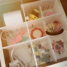 DIY Necessities Plastic Drawer Separator  Divider Storage Organizer Grid