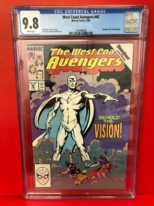 West Coast Avengers #45 CGC 9.8 1st White Vision Wandavison MCU