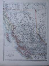 1916 Landkarte ~ Britisch Columbia