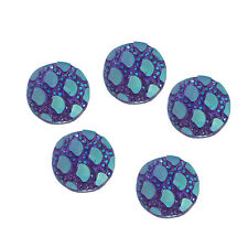 "12mm DRAGON SCALE Cabochons, Round Resin, Purple AB 10pcs, 1/2"" cab0501a"
