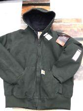 Carhartt WJ130-Moss Women's Sandstone Quilt Flannel Lined Jacket  2XL