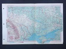 Map Of USSR Russia Moldavian Ukraine 1967 Large Vintage