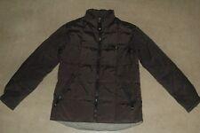 ARMANI jeans gray down filling puffer coat jacket 48 M winter men's