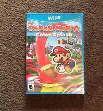 Paper Mario Color Splash Nintendo Wii U Video Game Free Ship Brand New SEALED
