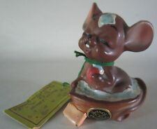 Vintage Josef Originals Mouse Village Soapy in Walnut Shell w/Tag