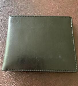 Dopp Men's Alpha RFID Blocking Leather Slimfold Wallet - Black - NEW In Box