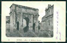 Roma Città Arco Settimio Severo cartolina MX4124