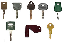 Volvo Heavy Equipment Construction Ignition Key Set 8 Keys With Laser Key