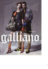 PUBLICITE PM  2011  GALLIANO haute couture pour IRIS & KENO sacs chaussures
