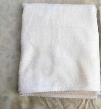 """White Beach Bath Towel The Big One Border Cotton Reversible Approx 53"""" x 30"""" New"""